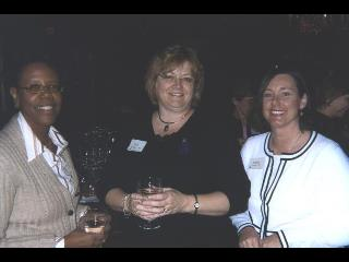 Linda Scott 95, Deborah Bambini 00, and Elaine Leigh 02 KCON Alumni Chapter President